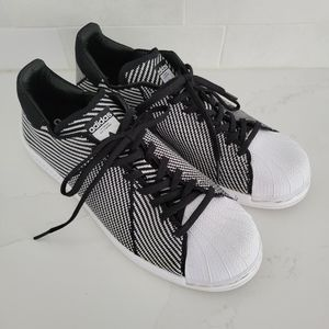 Adidas Superstar Bounce Primeknit Lace-Up Sneakers